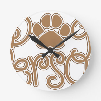 Dog Person Round Clock