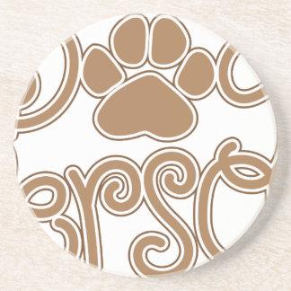 Dog Person Sandstone Coaster