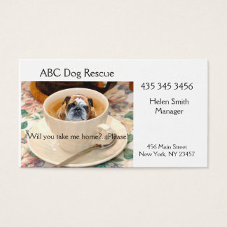 DOG/PET ADOPTION BUSINESS CARD