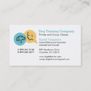 Randy business cards zazzle dog pet business cards pack of 100 colourmoves