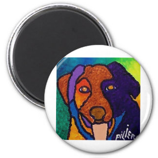Dog Pet by Piliero 2 Inch Round Magnet