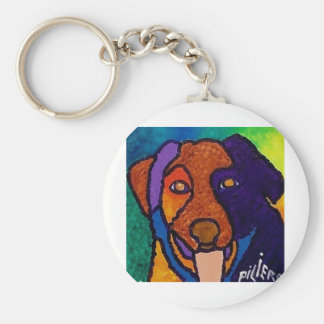 Dog Pet by Piliero Basic Round Button Keychain