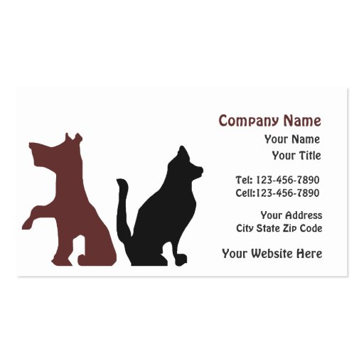 Dog pet care trainer business card zazzle for Dog trainer business card
