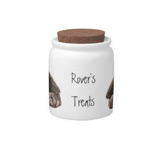 Dog, Pet, Custom Name Labrador Treat Jar, Candy Jar