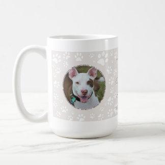 Dog Pet Memorial Your Photos Paw Print Sand Coffee Mug