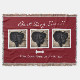 Dog Pet photo collage|Best Dog Ever|Instagram Throw Blanket