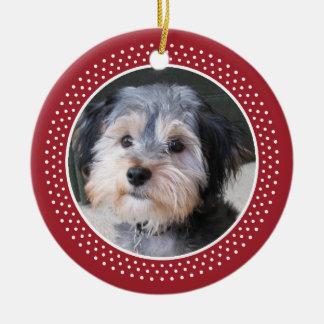 Dog Pet Photo Frame - double sided Ceramic Ornament