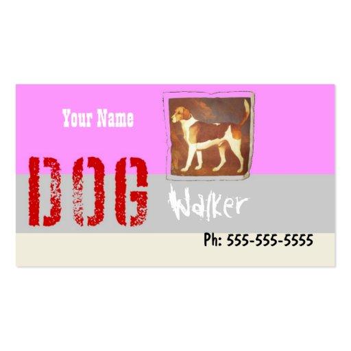 Dog / Pet Walker Sitter Groomer Etc Double-Sided Standard Business Cards (Pack Of 100)