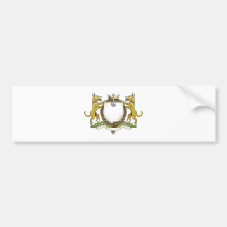 Dog pets heraldic shield coat of arms bumper stickers