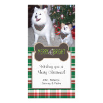 Dog Photo Christmas Greeting Card