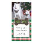 Dog Photo Christmas Greeting Photo Card Template