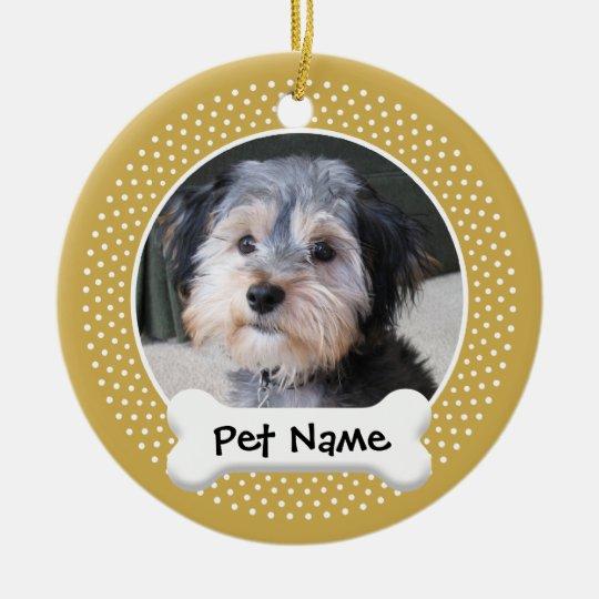 Dog Photo Frame - SINGLE-SIDED Ceramic Ornament