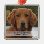 Dog Photo In Loving Memory Name Year Christmas Metal Ornament at Zazzle