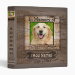 Dog Photo Memorial 3 Ring Binder