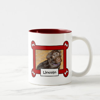 Dog Photo Mug Red Frame