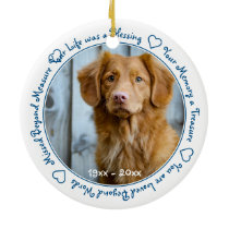 Dog Photo Pet Loss Pet Memorial Ceramic Ornament