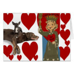 Dog Photo Vintage Valentine 14 Greeting Card