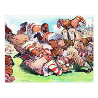 Dog Pile On The Gridiron Post Cards