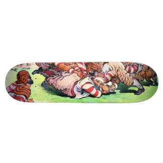 Dog Pile On The Gridiron Skateboard