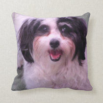 Dog, pillow, K-Cee Blue Throw Pillow
