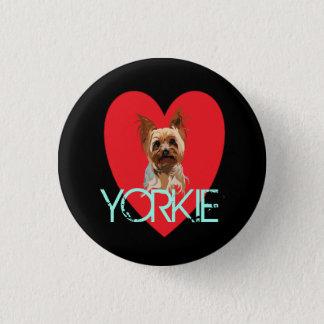 Dog Pin: Yorkie Heart Pinback Button