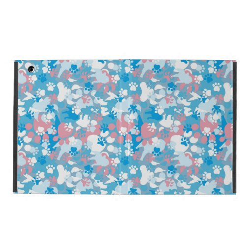 Dog Pink and Blue Camouflage Pattern iPad Covers