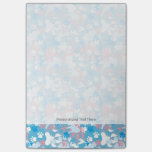 Dog Pink and Blue Camouflage Pattern Post-it® Notes