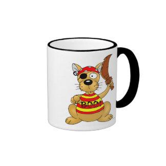 Dog Pirate Ringer Mug