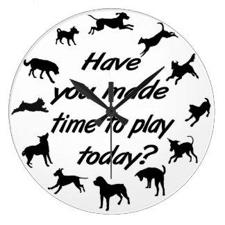 Dog Play Time Clock