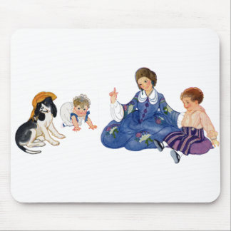 Dog Playing Dress Up Mouse Pad
