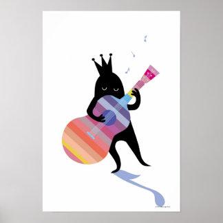 Dog Playing Guitar Print