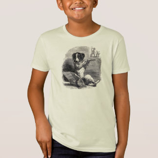 """Dog Playing the Flute"" Vintage Illustration T-Shirt"