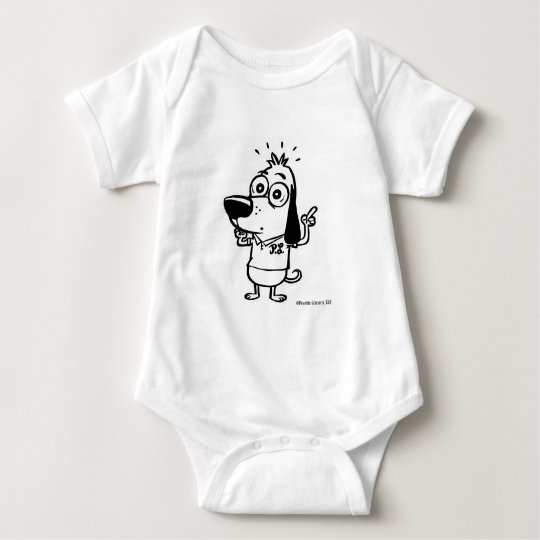 Dog Pointing Finger Baby Bodysuit