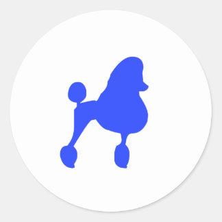 Dog / Poodle Classic Round Sticker