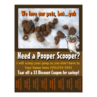 Dog Poop Scooper. Yard Clean-up. Custom tear sheet