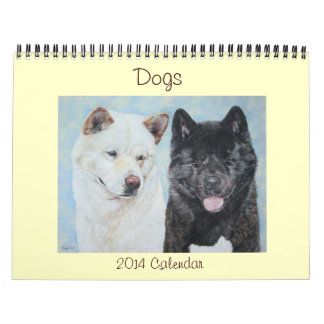 dog portrait art calendar various breeds