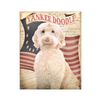 Dog Portrait Personalized Pet portrait Labradoodle Canvas Print