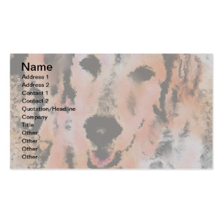 DOG PORTRAIT SANDY Double-Sided STANDARD BUSINESS CARDS (Pack OF 100)