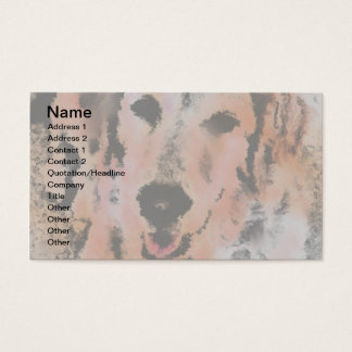 DOG PORTRAIT SANDY BUSINESS CARD