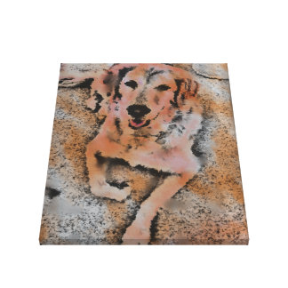 DOG PORTRAIT SANDY CANVAS PRINT