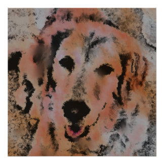DOG PORTRAIT SANDY POSTER