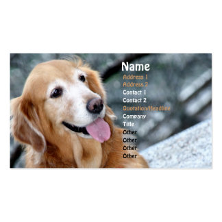 Dog Portrait/Smiling Golden Retriever Photography Business Card