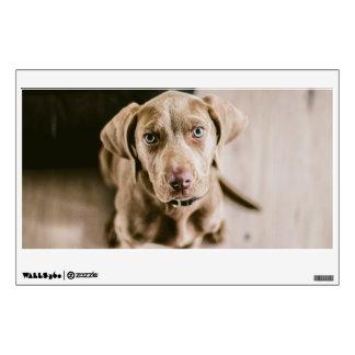 Dog portrait wall decal