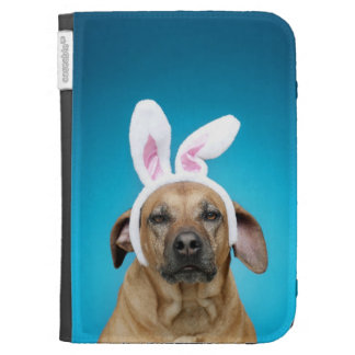 Dog portrait wearing Easter bunny ears Case For The Kindle