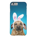 Dog portrait wearing Easter bunny ears iPhone 6 Case