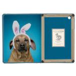 Dog portrait wearing Easter bunny ears iPad Mini Cases
