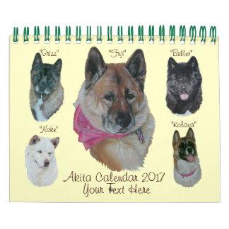 dog portraits akita pictures original art 2017 calendar