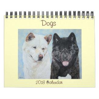 dog portraits original art various breeds 2918 calendar