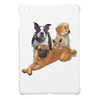 Dog posse with cat iPad mini case