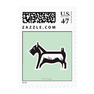 Dog Postage Stamp